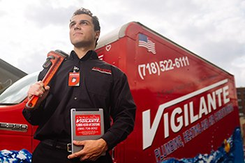 The heating professionals here at Vigilante Plumbing & Heating would like to share something with you that may come as a bit of a surprise: loud banging noise from your furnace, boiler or other heating system is not normal! Most people have heard these noises for so long that they have come to believe that this is the standard sounds that heating systems are supposed to make. A heating system is supposed to be unseen, unheard, and unnoticed. Whether you have a steam, forced hot water or hot air system, let the heating technicians at Vigilante Plumbing & Heating fix your heating system so it remains silent and evenly distributes heat throughout all of the rooms in your home. 80 years of Heating System Repair and Replacement in Brooklyn NY Heating System RepairIf it is time to replace your boiler or furnace, you should focus on not just merely having it replaced with the same type of unit, but having your home reevaluated for the most efficient and cost‐effective system to date. As high‐efficiency heating systems become more efficient, it is easy to oversize equipment which costs you money to operate. The heating technicians at Vigilante Plumbing & Heating will perform a heating analysis on your home and will identify the perfect heating system for you. We Perform NYC annual boiler inspections & Back Flow Prevention Device(RPZ) testing. New & Advanced Heating Systems Solutions for NYC Homes In‐Floor Heating ‐ In‐floor heating systems offer a new‐age comfort that will have you wondering how you ever lived without them. Today's in‐floor heating products are extremely versatile and can be installed under any flooring type (even wood floors). The heating professionals at Vigilante Plumbing & Heating can install this system under an existing floor and alongside an existing heating system. Your family will love the added comfort that in‐floor heating systems offer. Snow Melting ‐ Why waste time and money shoveling away compiled snow when you can have it automatically remove